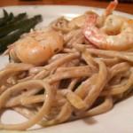 creamy shrimp fettuccine