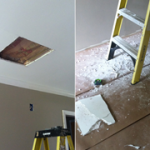 there is a hole in the middle of ceiling