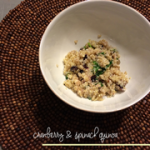 cranberry & spinach quinoa